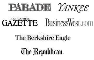 logos for Parade, Yankee, Hampshire Gazette,BusinessWest,Berkshshire Eagle, Rebublican